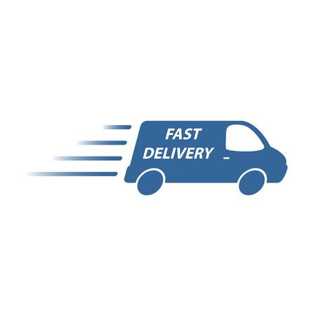 Illustration pour delivery van - image libre de droit