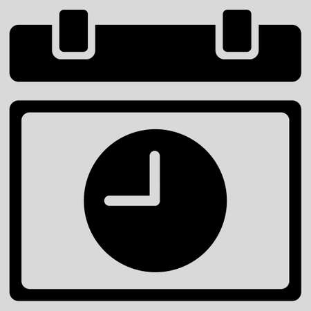 Photo pour Time Schedule glyph icon. Style is flat symbol, black color, rounded angles, light gray background. - image libre de droit