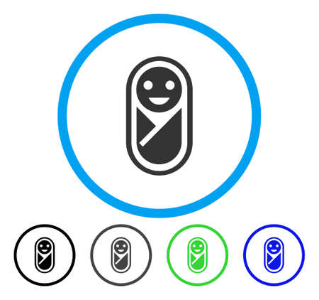 Illustration pour Infant rounded icon. Vector illustration style is a flat iconic symbol inside a circle, black, gray, blue, green versions. Designed for web and software interfaces. - image libre de droit