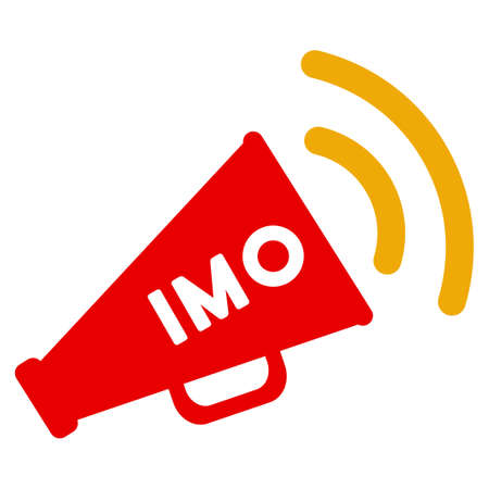 Photo pour Imo Megaphone Alert flat raster pictograph. An isolated icon on a white background. - image libre de droit