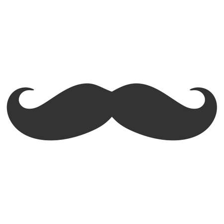 Illustrazione per Gentleman mustache vector icon. Illustration style is a flat iconic symbol. - Immagini Royalty Free
