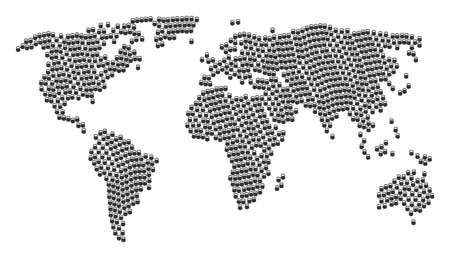 Global geography map concept composed of weight icons. Vector weight elements are composed into geometric global geography pattern.
