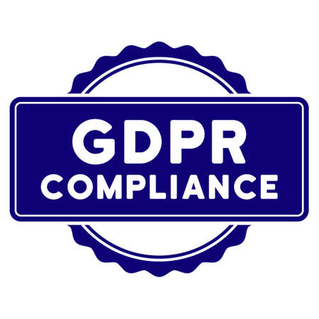 Illustration pour GDPR Compliance seal template. Vector element with clear design for stamps and watermarks. - image libre de droit