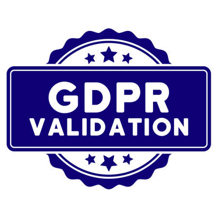 Illustration pour GDPR Validation seal template. Vector element with clear design for stamps and watermarks. - image libre de droit