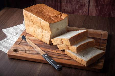 Foto de shoku-pan, thick cut japanese plain bread - Imagen libre de derechos