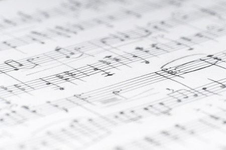 Photo for Handwritten musical notes, shallow DOF - Royalty Free Image