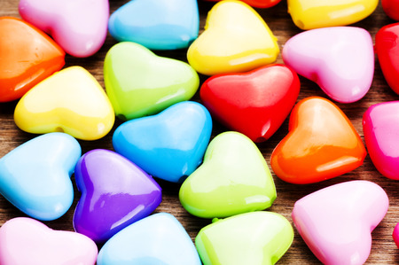 Photo pour Colorful Valentines Day background with hearts. - image libre de droit