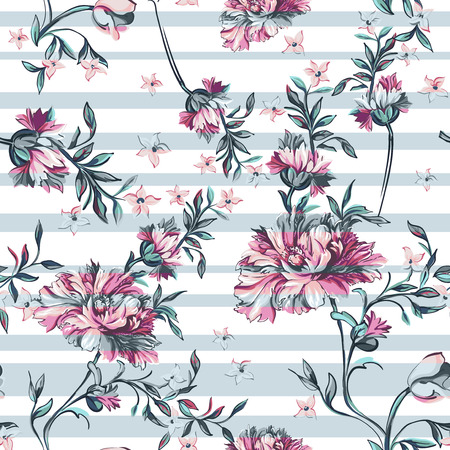 Illustration for seamless pattern with stripe on a white background - Royalty Free Image