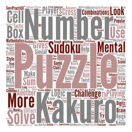 Ilustración de Beat The Kakuro Monster text background word cloud concept - Imagen libre de derechos