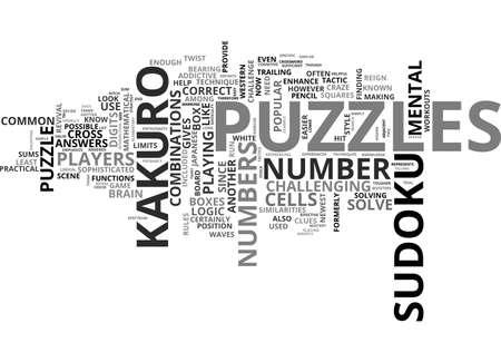 Ilustración de BEAT THE KAKURO MONSTER TEXT WORD CLOUD CONCEPT - Imagen libre de derechos
