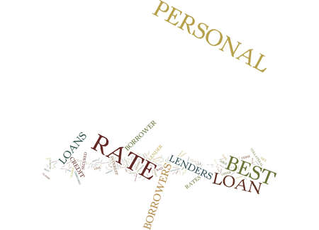 Ilustración de BEST RATE PERSONAL LOANS ONE OF THE MOST SOUGHT AFTER FEATURES Text Background Word Cloud Concept - Imagen libre de derechos