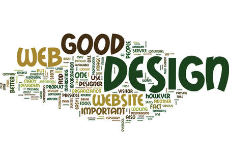 Ilustración de GOOD WEB DESIGN IS SO IMPORTANT Text Background Word Cloud Concept - Imagen libre de derechos