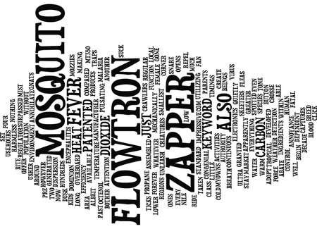Ilustración de FLOWTRON MOSQUITO ZAPPER Text Background Word Cloud Concept - Imagen libre de derechos