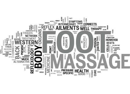 Illustration pour FOOT MASSAGE Text Background Word Cloud Concept - image libre de droit