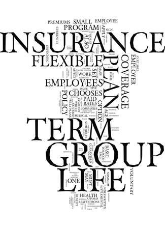 Ilustración de Flexible plan of group term life insurance Text - Word Cloud Concept - Imagen libre de derechos