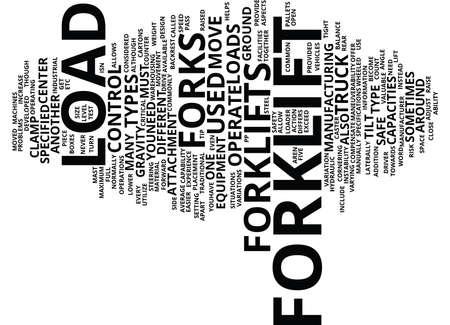 Ilustración de FORKLIFT Text Background Word Cloud Concept - Imagen libre de derechos