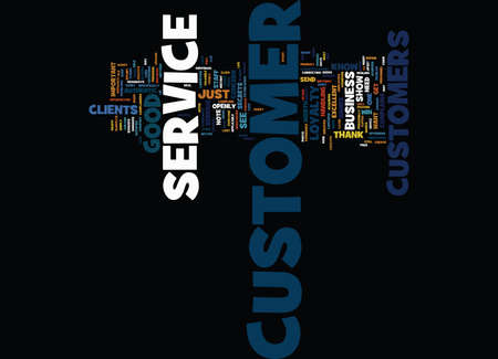 Ilustración de GOOD CUSTOMER SERVICE Text Background Word Cloud Concept - Imagen libre de derechos