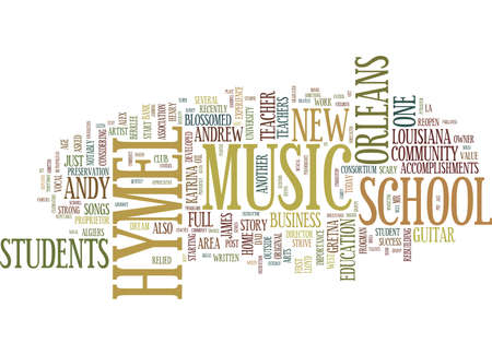 Ilustración de FROM WORK AT HOME GUITAR TEACHER TO FULL MUSIC SCHOOL Text Background Word Cloud Concept - Imagen libre de derechos