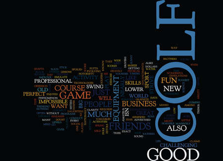 Ilustración de GOLF Text Background Word Cloud Concept - Imagen libre de derechos