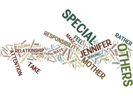 Illustration pour THE NEED TO FEEL SPECIAL Text Background Word Cloud Concept - image libre de droit
