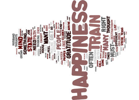 Ilustración de THE PATH TO HAPPINESS Text Background Word Cloud Concept - Imagen libre de derechos