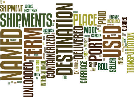 Illustration pour THE INCOTERMS Text Background Word Cloud Concept - image libre de droit