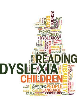 Illustration pour YOUR KIDS MIGHT BE DYSLEXICS READ ON Text Background Word Cloud Concept - image libre de droit