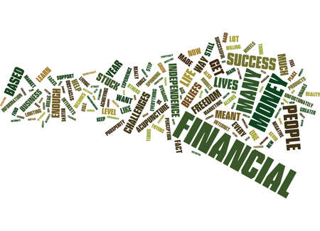Ilustración de THE BIGGEST OBSTACLES TO FINANCIAL SUCCESS Text Background Word Cloud Concept - Imagen libre de derechos