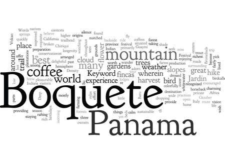 Illustration pour Boquete Panama - image libre de droit