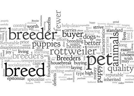 Ilustración de Buy from a Reputable Breeder - Imagen libre de derechos