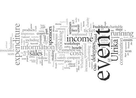 Ilustración de Evaluate Your Event To Accumulate Profit, vector illustration typography text art - Imagen libre de derechos