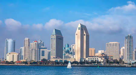 Foto de Downtown City of San Diego panorama, California USA - Imagen libre de derechos