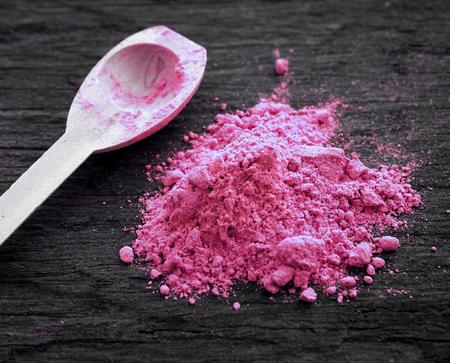 Foto de Pink colored powder - Imagen libre de derechos