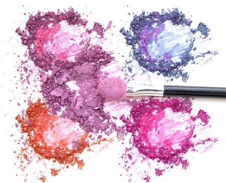 Mixed color eye shadow make up and blush