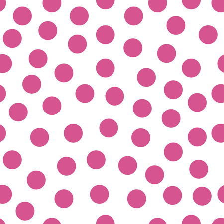 Illustration for Colored circles on white background. Seamless retro circle pattern. Dotted round seamless background, pattern, ornament for wrapping paper, fabric, textile, website, wallpaper. Vector illustration. - Royalty Free Image