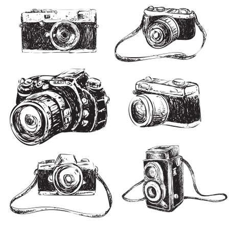 Illustration pour Vector illustration of camera in doodle cartoon style - image libre de droit