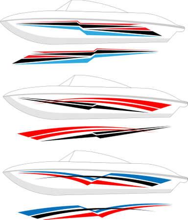 Photo pour Boat Graphics, Stripe : Vinyl Ready Vector Art - image libre de droit