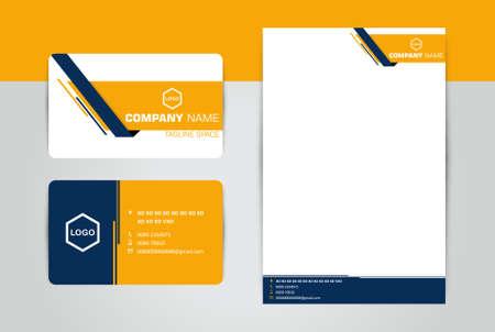 Illustration pour Business Card & Letter Head Corporate - image libre de droit