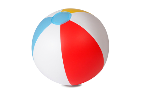 Photo pour Inflatable beach ball isolated on white background - image libre de droit