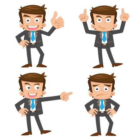 Illustration for businessman.eps 10 simple Gradients - Royalty Free Image