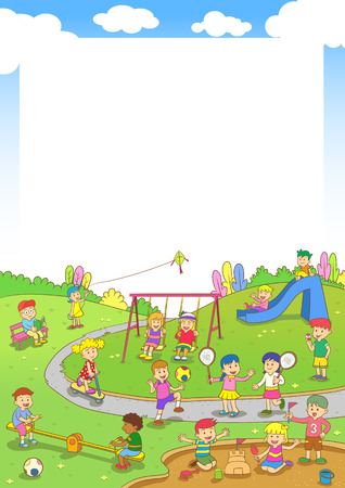 Illustration for playground.EPS10 File  simple Gradients - Royalty Free Image
