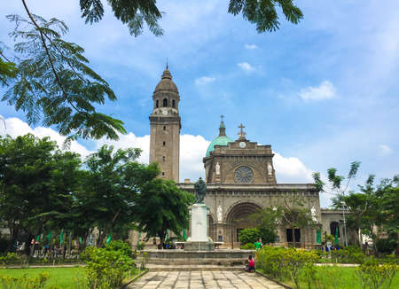 Foto de The Manila Cathedral, Intramuros old town Manila, Philippines. - Imagen libre de derechos