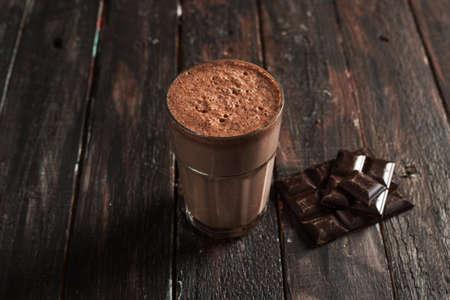 Foto de Top View Tasty Chocolate Milkshake - Imagen libre de derechos