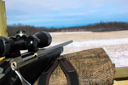 Photo pour Watching the sky get darker while hunting. - image libre de droit