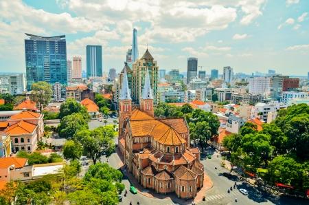 Foto de notre dame cathedral ho chi minh city - Imagen libre de derechos