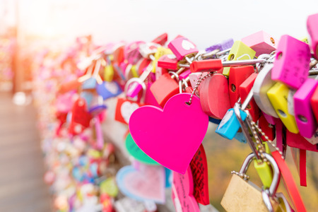 Photo pour The Love Key Ceremony at N Seoul Tower in Seoul City, Korea. Located on Namsan Mountain in the center of Seoul City. - image libre de droit