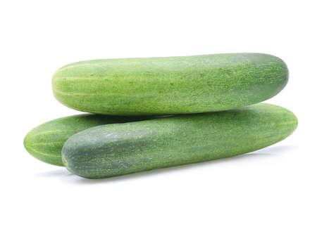 Photo pour cucumber isolated on white - image libre de droit