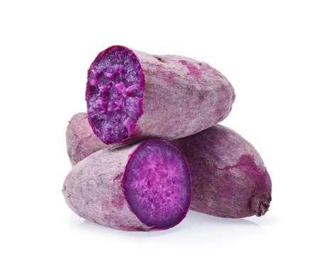 Photo for Purple Sweet Potatoes on White background - Royalty Free Image