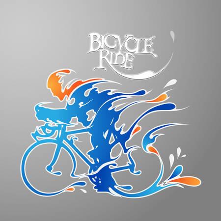 Illustrazione per bicycle ride for your design - Immagini Royalty Free