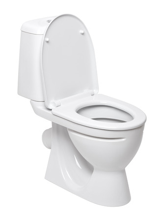 Foto de toilet bowl on a white background - Imagen libre de derechos